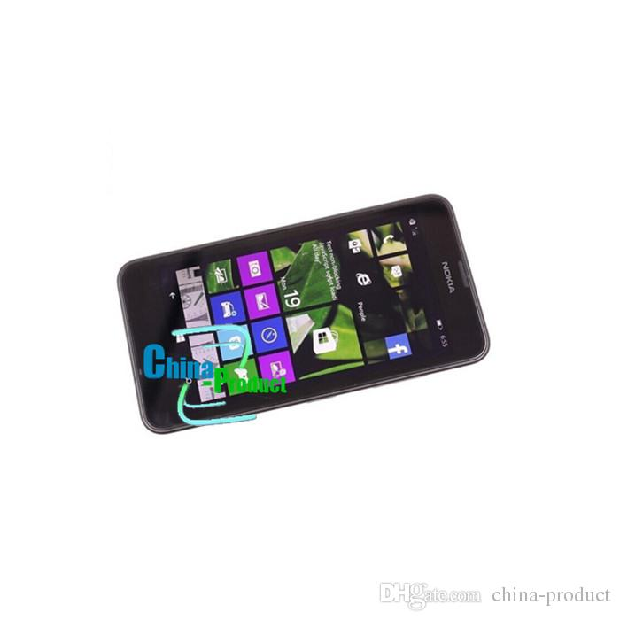 "Refurbished Original Nokia Lumia 630 windows phone 8.1 Quad Core 4.5"" Screen 512M/8G dual camera 3G cellphone"