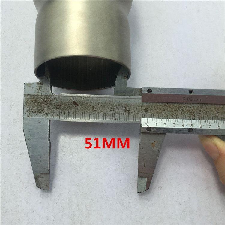 Interface de conversion de tuyau d'échappement de moto en acier inoxydable