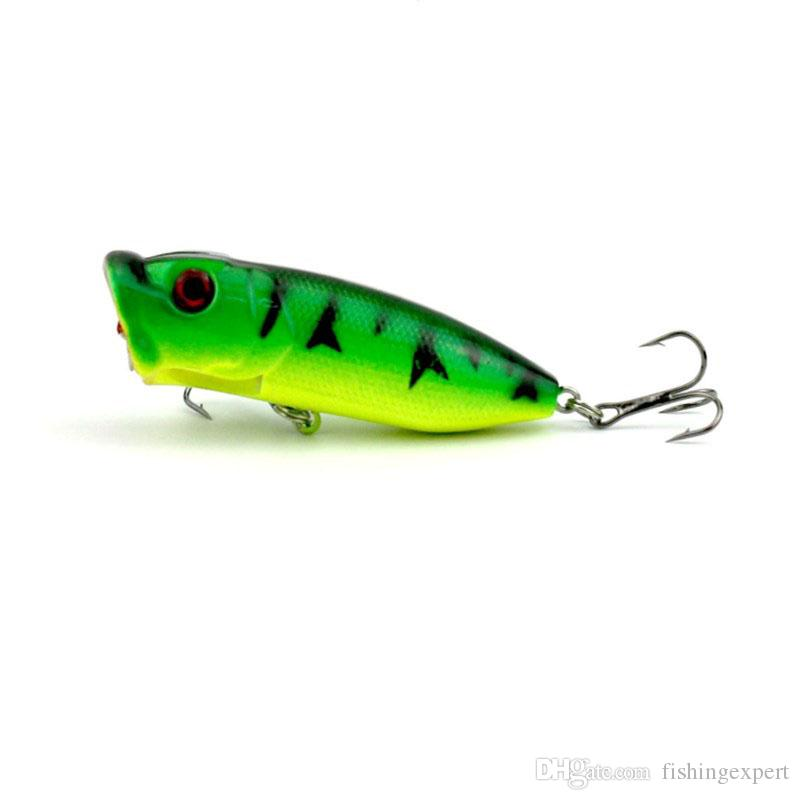Fishing Lures Popper Baits with 6# Carbon Steel Hook 13g 6.5cm Plastic Lifelike Fishing Baits or Artificial Hard Lure