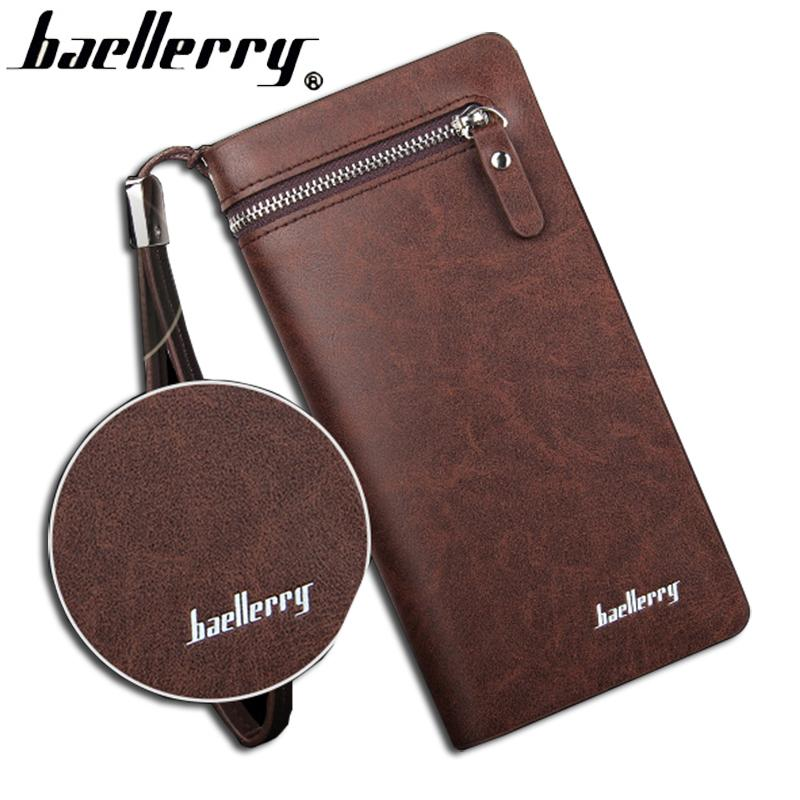 a9fe0bbc69f Baellerry Brand Wallet Men Long Man Wallets Leather Male Clutch Top Quality  Big Purse Money Bag Strap Vintage Cellphone Bag My Wallet Womens Wallets  From ...