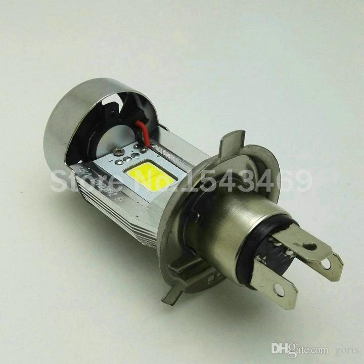100% véritable moto LED phare H4 hi lo ampoule HS1 COB lampe frontale 20W * 2 2000LM * 2 DC12V 6500K blanc cyclomoteur Motobike étanche