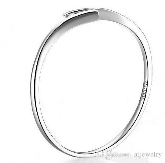 Завод прямых продаж 18 карат белого золота кольцо любовь натуральный реальный 0.03 ct сертифицированный SI G-H хорошие бриллиантовые обручальные кольца для женщин круглый Cut кольцо