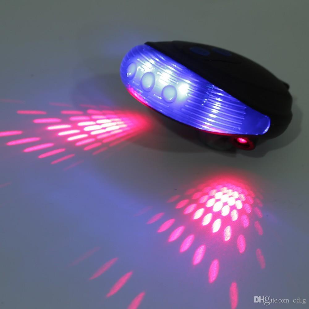 Ultra Bright Fahrrad 5 LEDs Front Head Taschenlampe 9 LED Laser Zurück Rücklicht Laser Rücklicht Bike Lamp Set