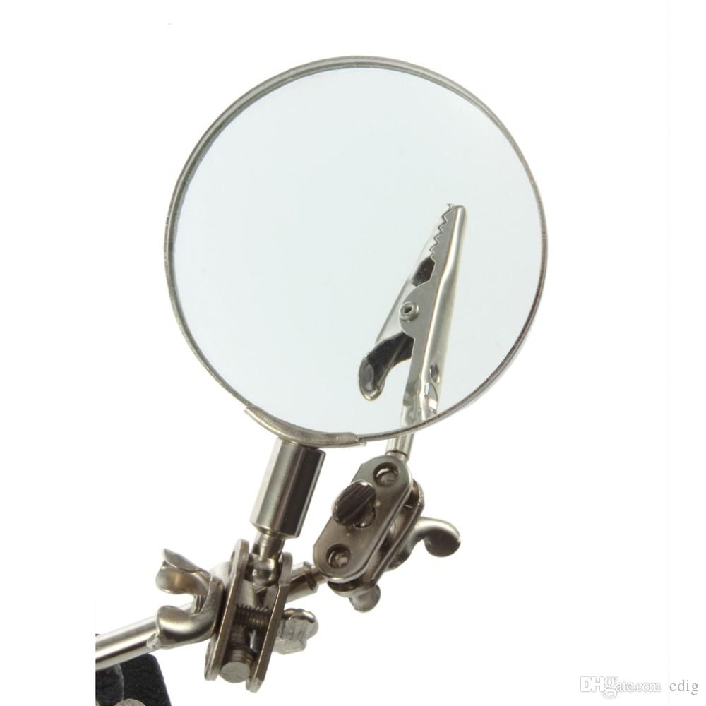 JM501 3X Multi-function Helping Hand electric machine soldering iron holder table magnifying Magnifier glass