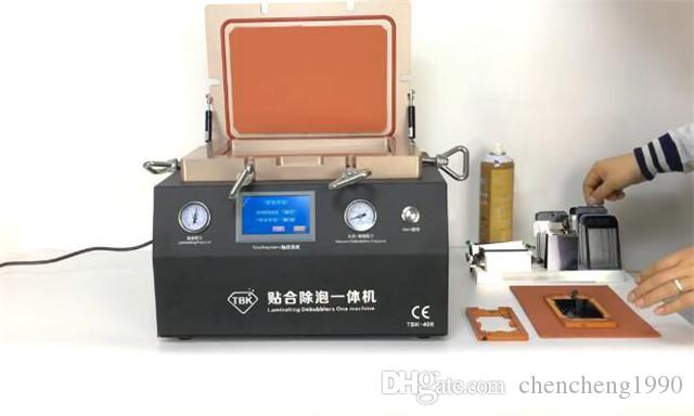 TBK 408 Fix Repair Change Broken Touch Screen Panel Max 12inch LCD Digitizer Glass OCA Vacuum Laminating Laminate & Debubblers One Machine