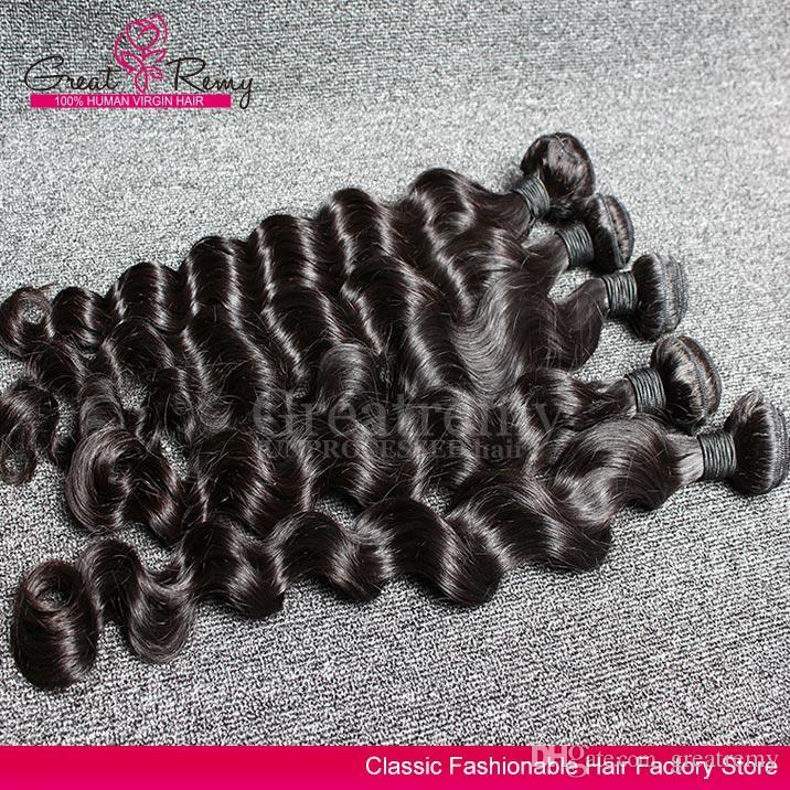 2 adet / grup Brezilyalı Gevşek Derin Dalga Bakire Saç Uzantıları Gevşek Kıvırcık Saç Örgü İnsan Saç Demetleri Doğal Siyah Boyarülebilir Remyhair
