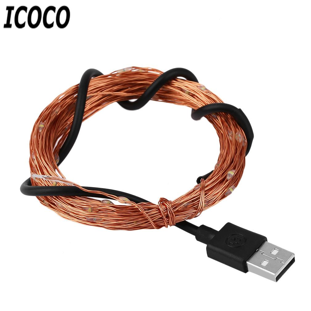 Wholesale Icoco 10m 10led Waterproof Ip66 Usb Powered Dc5v Copper ...