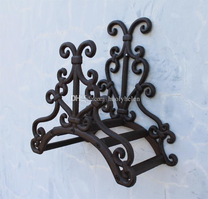Wrought Iron Hose Rack Holder Scrowl New Garden Outdoor Decorative Hose Reel Hanger Rack Cast Iron Antique Rust Wall Mount Vintage Hose Holder Antique Hose ... & Wrought Iron Hose Rack Holder Scrowl New Garden Outdoor Decorative ...