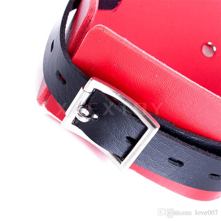 Adult sex role playing punk black+red collar slave collar C stlye