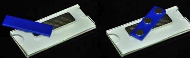 75 * 40mm magnética logotipo personalizado acrílico estudante trabalhador empregado ID titular do cartão de identificação broche pino ID cartão no peito NOME emblema 1 ordem