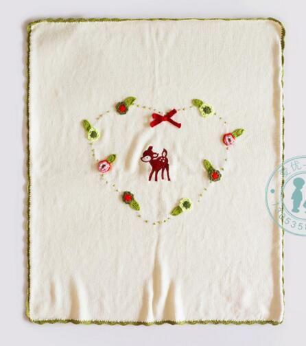 INS Bebek 100% Battaniye Bebek çocuk INS 65x75 CM Kreş Yatak Karikatür soyulmuş çiçek Baskı Kundaklama Anaokulu çocuk güz battaniye