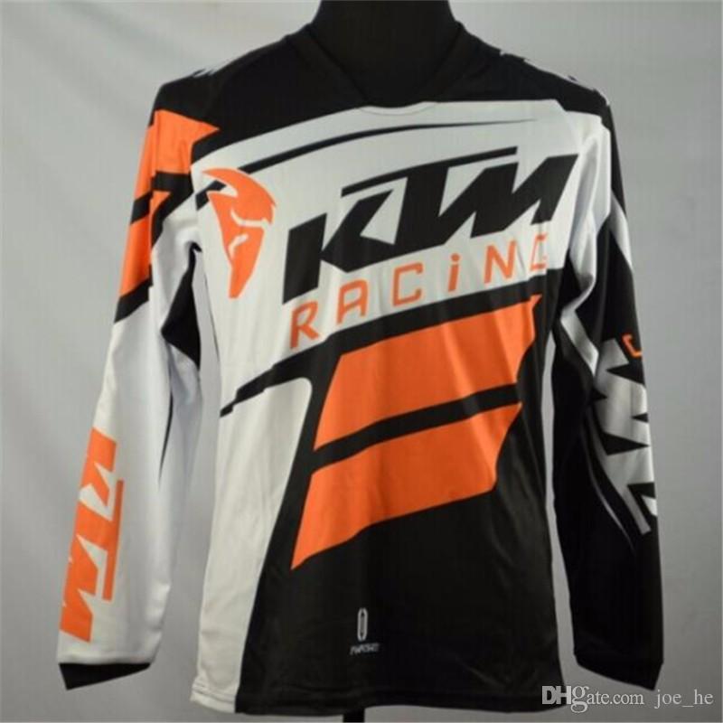 Marka-Sıcak adam tarzı kapalı yol MTB KTM MX DH Nefes bisiklet bisiklet formaları motokros T Shirt Yokuş Aşağı kir bisiklet kazak ATV formalar