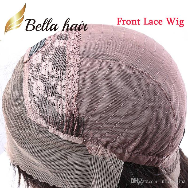 Silky Straight Hair Wigs 100% Indian Virgin Human Hair Wigs with Bang Front/Full Lace Wigs Julienchina Bella Hair