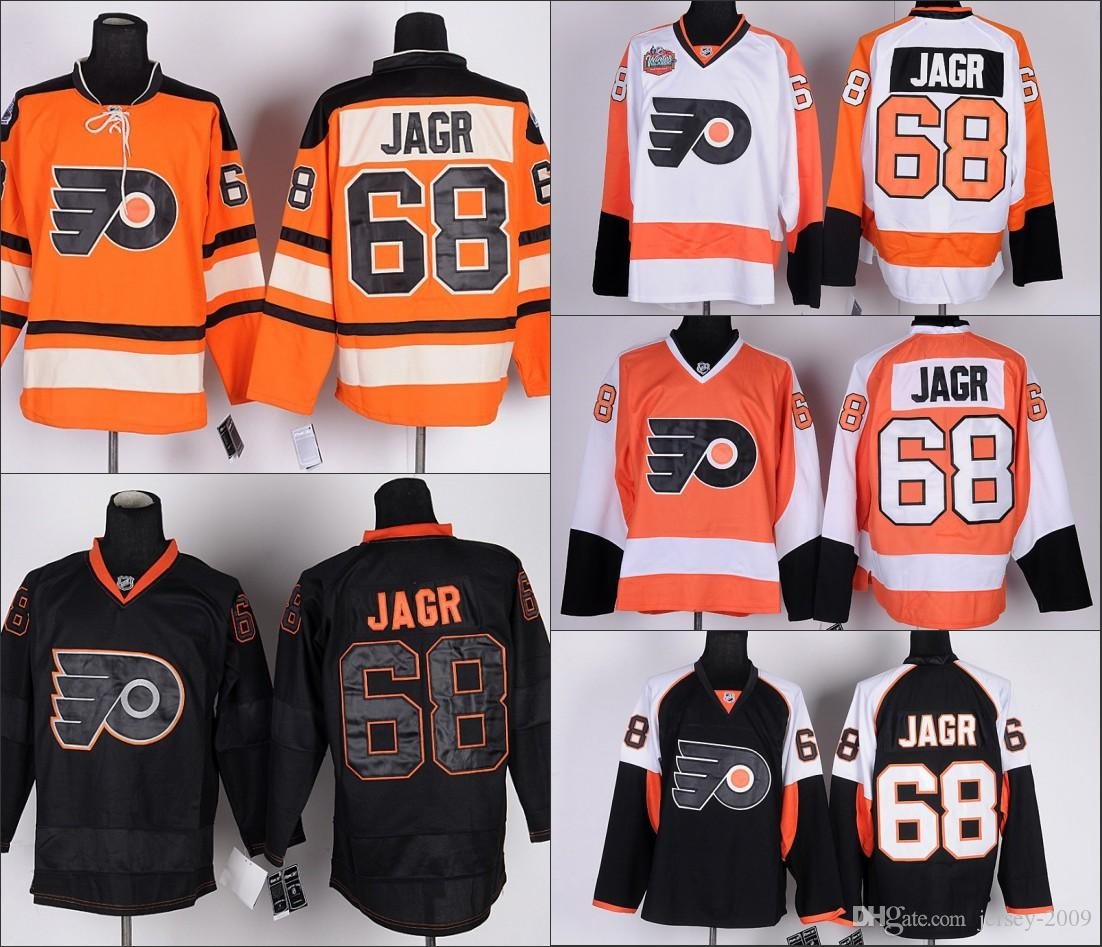 MEN Philadelphia Flyers Jerseys  68 Jaromir Jagr Jersey White Orange Ice  Hockey Jersey Embroidery Stitched S-3XL DANIEL BRIERE Jerseys Kimmo Timonen  Jerseys ... da264af23