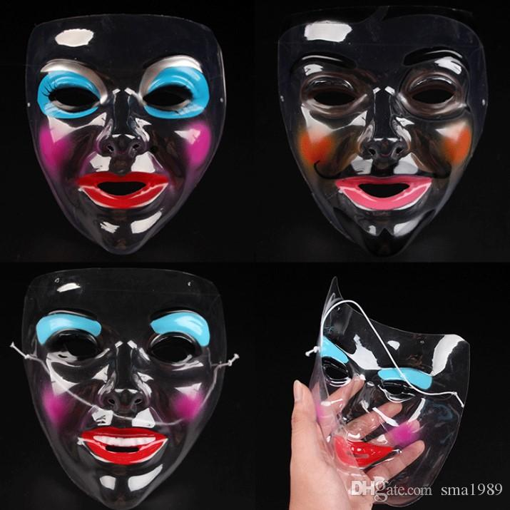 clear halloween face mask