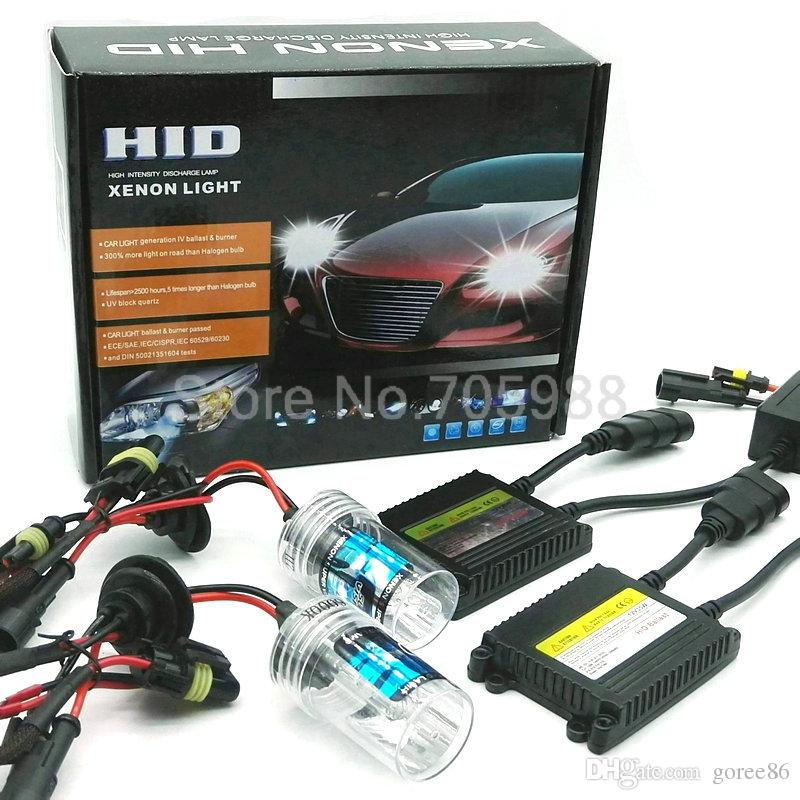 18 Months Warranty AC 35W H7 HID Xenon Bulb Headlight Xenon Conversion Kit Headlamp H1 H3 H7 H8 H9 H11 HB4 9005 9006