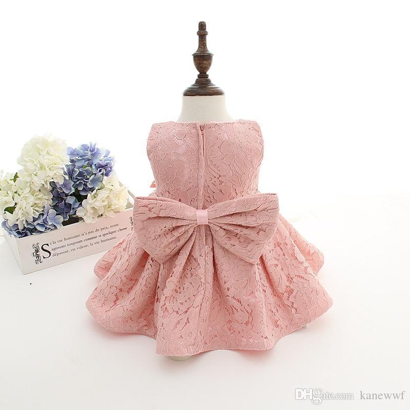 최신 세트 1 살짜리 아기 소녀 침례 드레스 공주님 결혼 vestidos 투투 2016 아기 소녀 모자와 함께 세례 가운