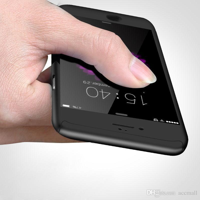 آيفون X رقيقة جدا 360 درجة غطاء كامل حالة وقائية مع الشاشة الزجاج المقسى حامي آيفون X 8 6 7 6S زائد برو 11 ماكس