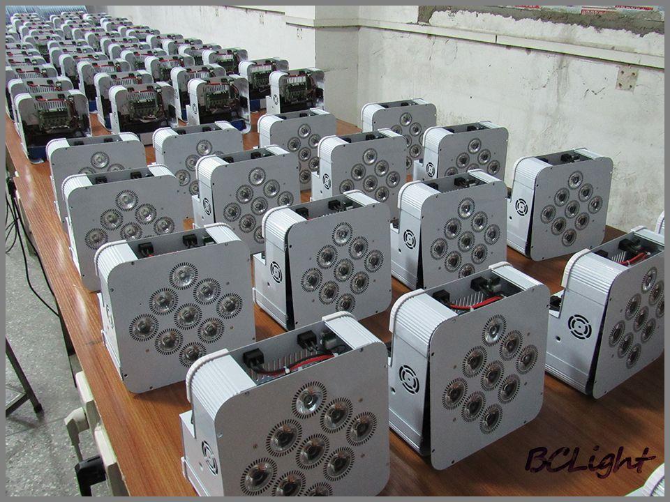 /Case Guangzhou High quality battery operated wireless dmx 512 led slim par up lighting for wedding decor 9*18w RGBWA UV