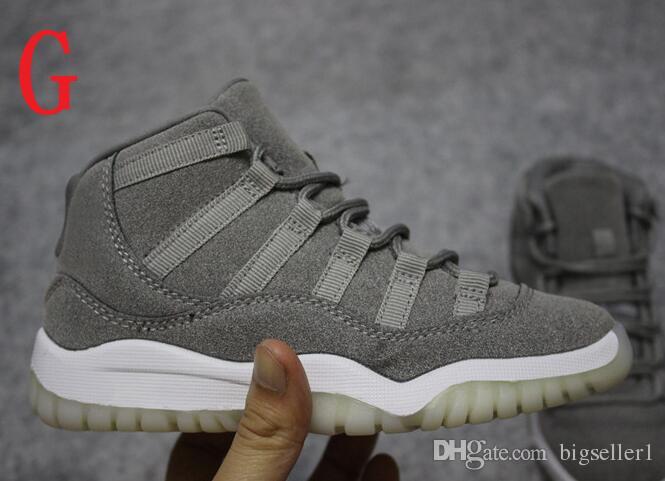Rahat Moda Serin Gri 11 basketbol ayakkabı xi 11 s ayakkabı çocuklar satılık 11 sneakers ücretsiz kargo