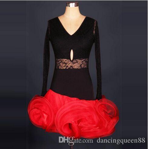Custom Made Adult/Children Latin Dance Dress Women/Girls White Clothing For Dance Cha Cha/Samba/Ballroom Dance Wear Vestido De Baile Latino