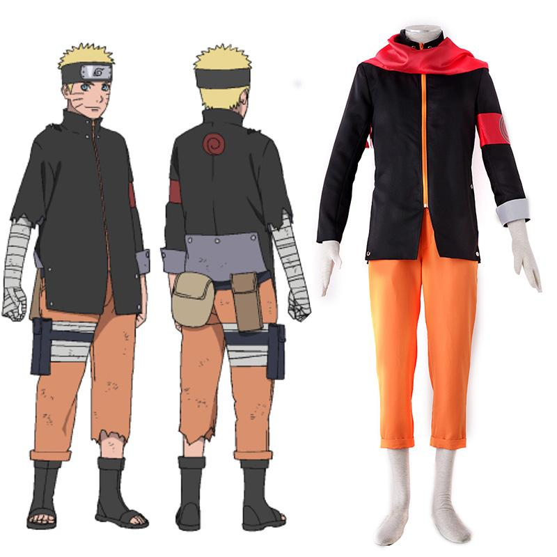 Free Shipping Naruto THE LAST Uzummaki Naruto Cosplay Costume Ninja Costume Halloween Carnival Costume for Men Custom Size