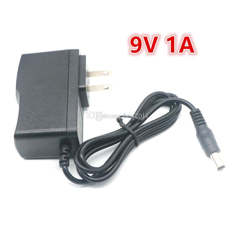 AC 100-240V для DC 9V 1A 1000mA импульсный адаптер питания зарядное устройство EU/US/UK / AU Plug Бесплатная доставка