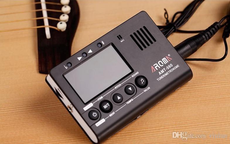 Aroma ATM-560 Instrumentos musicales LCD Ukulele Digital Sax Tuba Bass Violín Guitar Tuner Partes de Guitarra instrumentos musicales accessoriesr