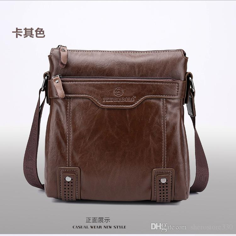 Vicuna Polo Famous Brand Leather Men Bag Casual Business Leather ...