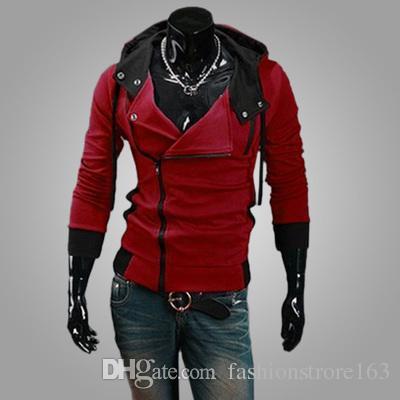 Hot New Assassin's Creed 3 Desmond Milhas Moletom Com Capuz Casaco Top Casaco Traje Cosplay