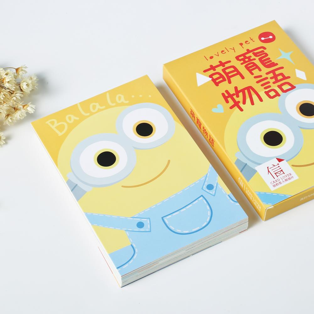 Wholesale Pack Cute Cartoon Characters Greeting Card Postcard