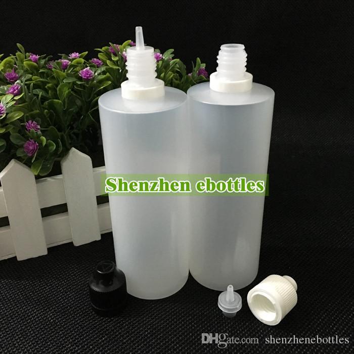 Alta qualidade de envio livre Garrafa macio Estilo PE Needle 120ML Plastic Dropper Bottles Childproof Caps adulteração LDPE E Líquido Garrafa Vazia