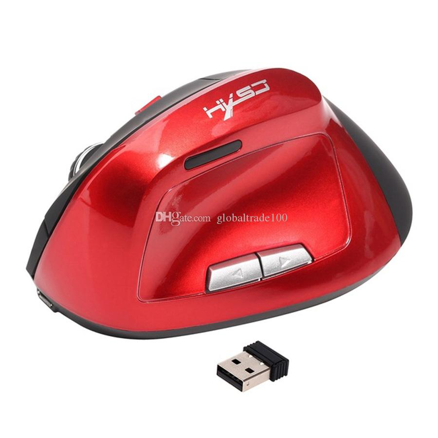 Эргономичная Вертикальная Мышь Беспроводная 6D Аккумуляторная Мышь Компьютерные Мыши 2.4 ГГц USB Игровые Мыши Оптические 2400 ТОЧЕК / ДЮЙМ Для Портативных ПК