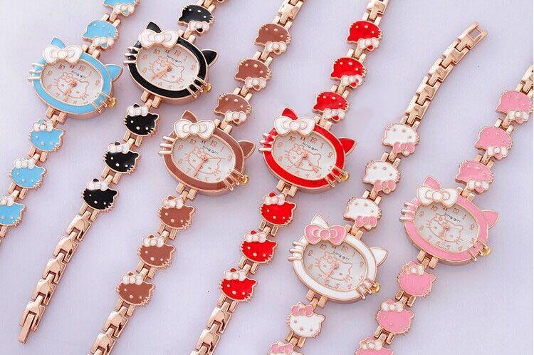 f8621187e9 2016 Hot Sell Brand Hello Kitty Cartoon Watches Women Kids Hellokitty  Watches Cute Girls Designer Children Quartz WristWatch Wrist Watch Online  Buy Wrist ...