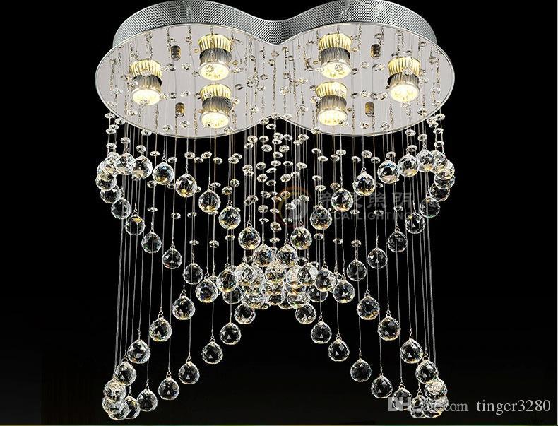 Recém teto lâmpada do teto lâmpada lustre de cristal luz espiral de cristal lustre lâmpada luz de cristal para corredor corredor varanda iluminação da varanda