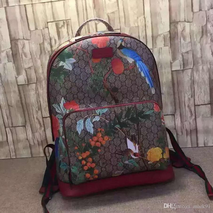 ecac3581706e Printing Cattle Leather Backpack