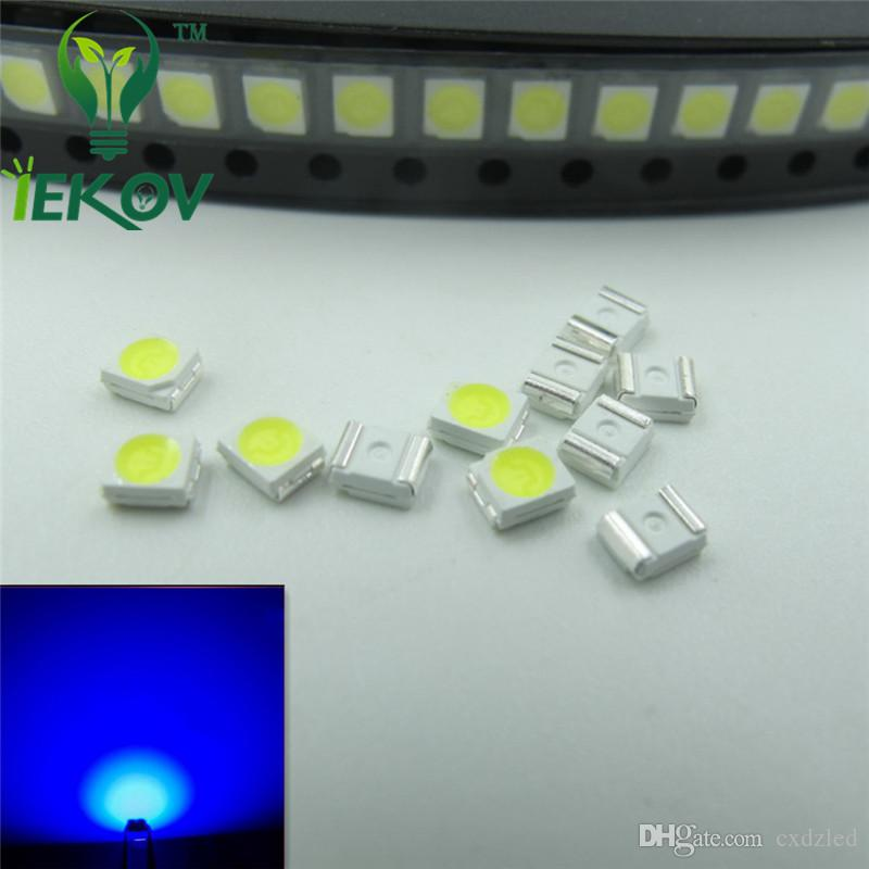 PLCC-2 Blue LED 1210 3528 SMD Ultra Bright Light Emitting diodes 3.0-3.2V 465-475nm SMD/SMT Chip lamp beads Wholesale