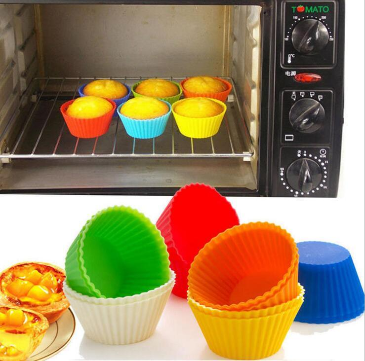 bakeware tools colorful food grade silicone cake moulds mini cupcake muffin Cup molds baking moulds pastry tools kitchen DIY Tools