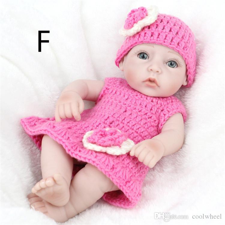 Fashion Christmas Gift Kids Playmate Preschool Education Baby Gifts Reborn Toys Children Dolls 28 cm Simulation Reborn Dolls Silicone