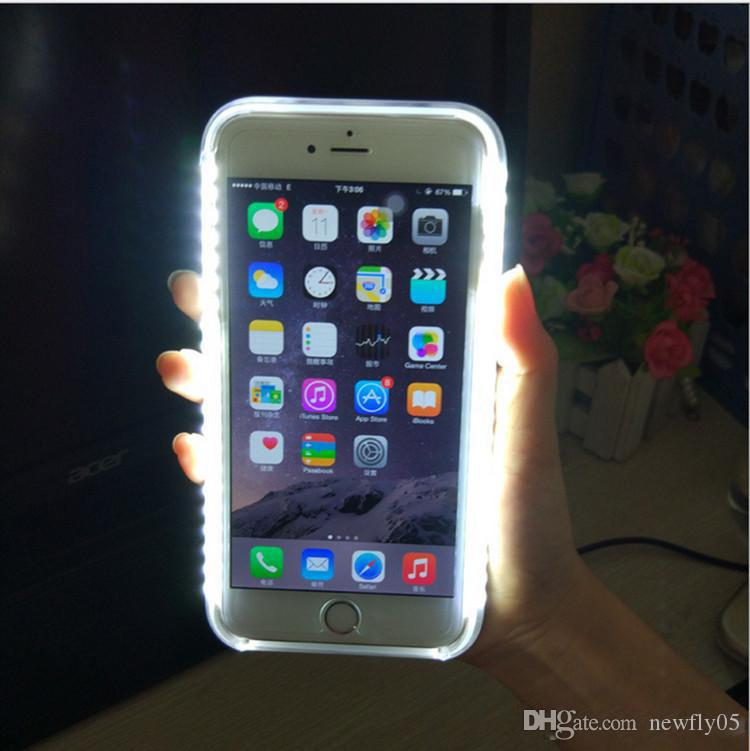 led iphone 5s case led light up selfie phone luminous back cover shell 5722