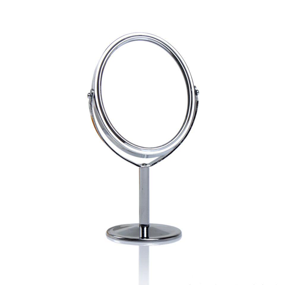 Desktop Metal Makeup Mirror,Double Face Vanity Mirrors 360°,Rotating Portable  Mirror,1:2 Amplification Function Hand Held Mirror Hand Held Mirrors From  ...