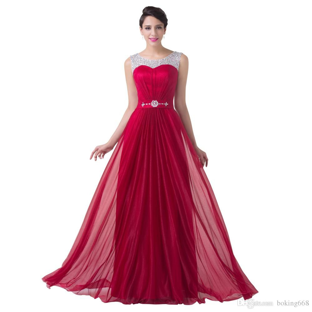 Sexy red chiffon bridesmaid dress a line formal dress wedding sexy red chiffon bridesmaid dress a line formal dress wedding party gown floor length long bridesmaid dresses 2016 bridesmaid dresses gold bridesmaid ombrellifo Image collections
