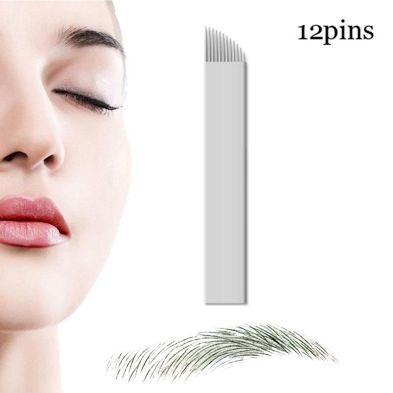 Microblading Needles 12 Pins For Microblading Embroidery Pen