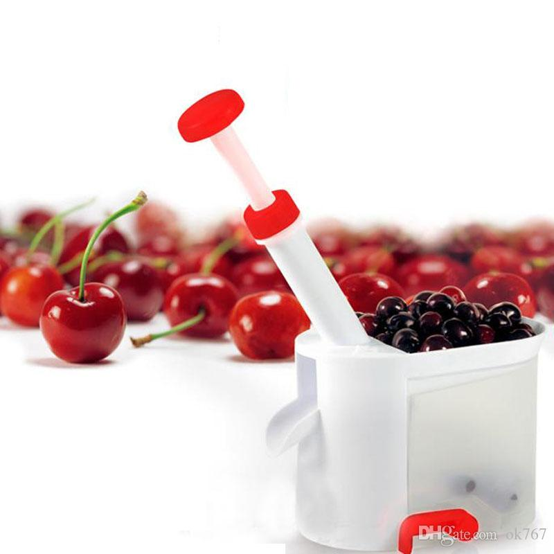 New Cherry Pitter Stone Remover Machine Cherry Corer Stones With Container Kitchen Tool Machine Novelty Super Gadget For Kids