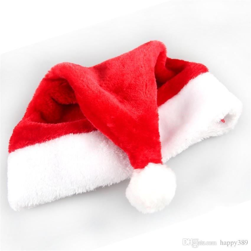 Acquista Cappelli Di Babbo Natale Di Natale Cappelli Di Cappelli Rossi E  Bianchi Babbo Natale Costume Decorazione Di Natale Bambini Adulti Cappello  Di ... 7f6f89eb194a