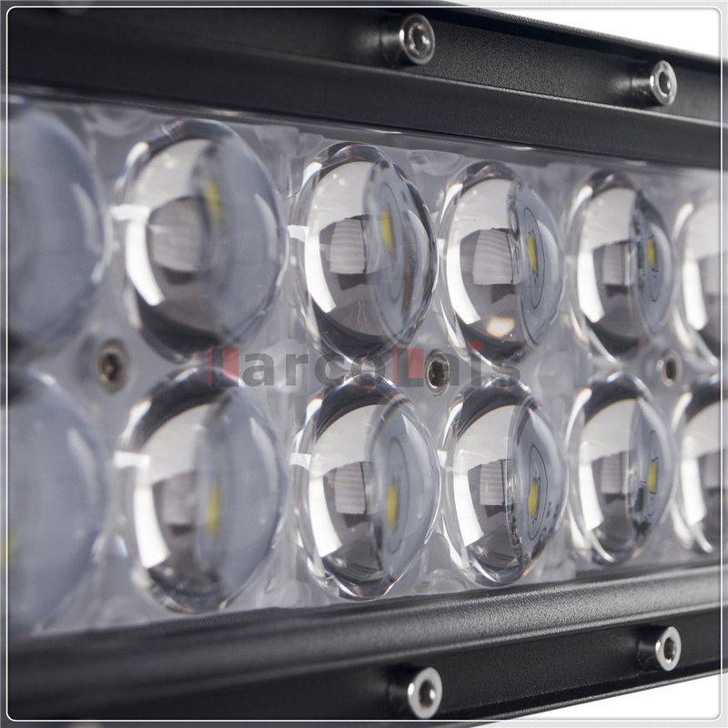 4D 52-дюймовый 500 Вт изогнутые CREE LED рабочая Световой бар для тракторных лодок Offroad 4WD 4x4 грузовик внедорожник ATV Combo Beam 12V / 24V