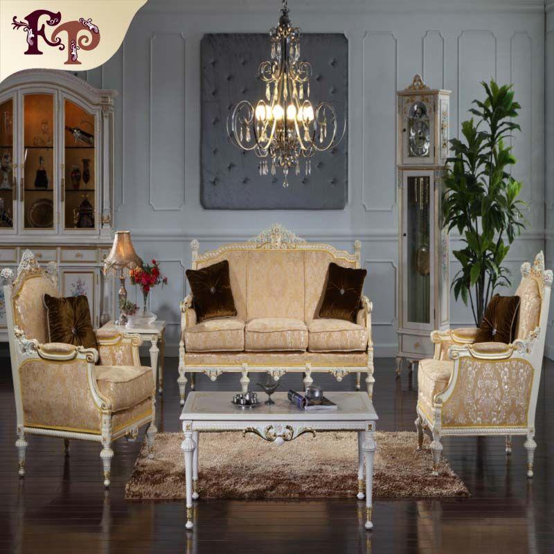 Antique baroque furniture -Versailles living room set -European palace  furniture sofa SET