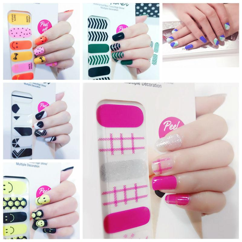 X.T Xt Nail Polish Strips Fashionable Design Waterproof Non Toxic ...
