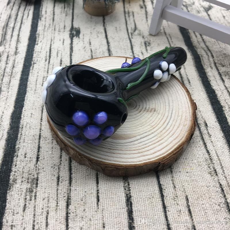 Специальный 3.7 дюймов сирень цветок филиал табак стеклянная трубка для курения ежедневного использования стекла ручной трубы