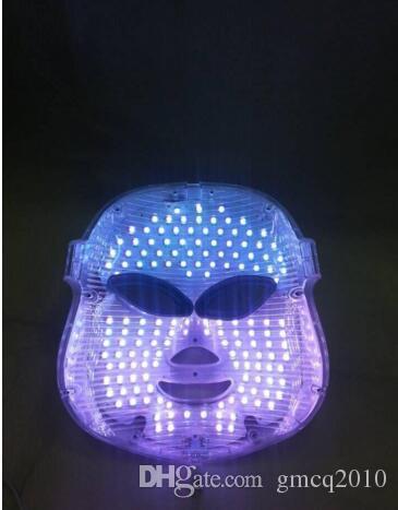 Maschera facciale di fotodinamica LED PDT Maschera di ringiovanimento della pelle Acne Remover ha condotto la maschera di bellezza del fronte i ha condotto la luce